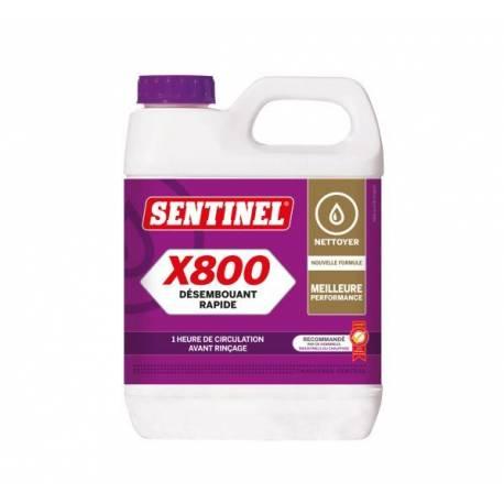 Désembouant X 800 SENTINEL Désembouant rapide pour éliminer les dépôts de boues et calcaire bidon 1L